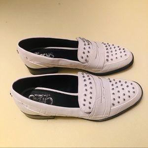 Sam Edelman Shoes - Sam Edelman White With Silver Spikes Shoes